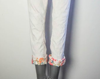 LEE COOPER Low Rise Faded Floral Design Women's Jeans