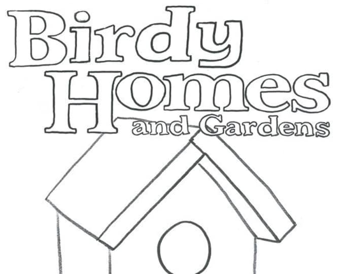 Featured listing image: Birdy Homes and Gardens colouring book by Kenny Pittock