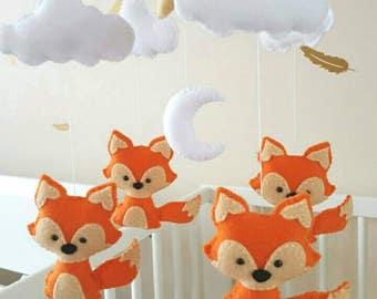 fox baby mobile etsy