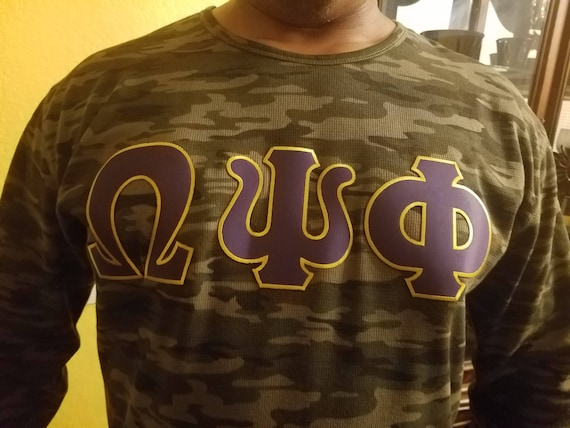Omega Psi Phi Crew Neck Thermal Shirt Etsy