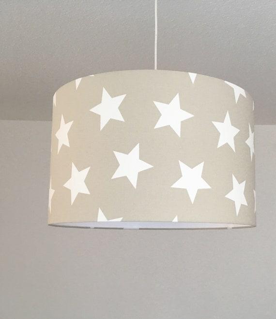 Lampenschirme Kinderzimmer   Lampenschirm Kinderzimmer Sterne 50er Durchmesser Etsy