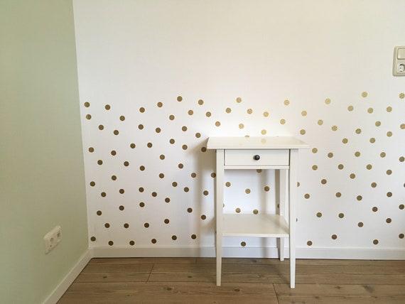 Wandaufkleber Kinderzimmer Wandtattoo Punkte Gold Deko Kinderzimmer Wanddeko Konfetti Babyzimmer Tapete Einrichtung Kinderzimmer