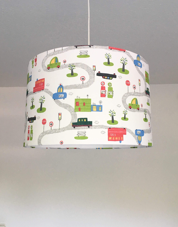 Deckenlampe Kinderzimmer Autos Kinderlampe lampshade | Etsy