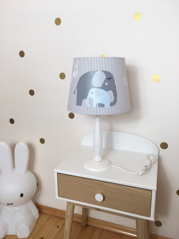 Tischlampe Kinderzimmer Lampenschirm Elefant Deko Etsy