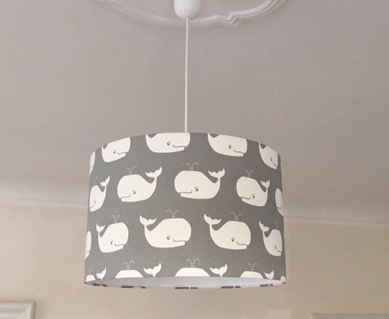 Lampe Kinderzimmer Deckenlampe Kinder grauer Lampenschirm | Etsy