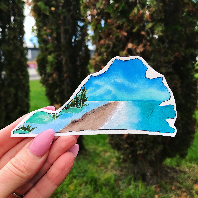 Virginia decal / state sticker / beach / water bottle decal / weatherproof  vinyl