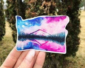 Lost lake / Oregon mountain hood / decal / pnw decal / bumper sticker / yeti / car vinyl / Pacific Northwest / state sticker