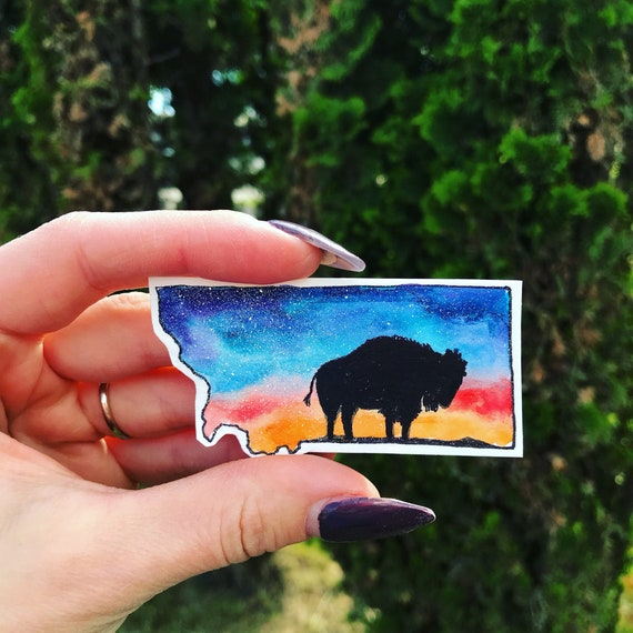 Montana decal / state sticker / SMALL / water bottle decal / phone decal /  adventure sticker / LIMITED EDITION