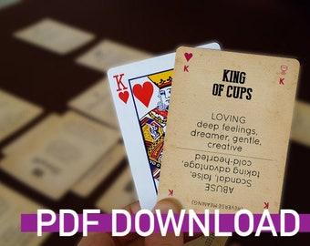 Printable Poker + Tarot Deck