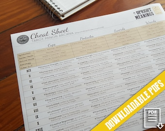 Mega Tarot Cheat Sheet