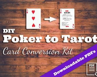 Poker to Tarot Conversion Kit