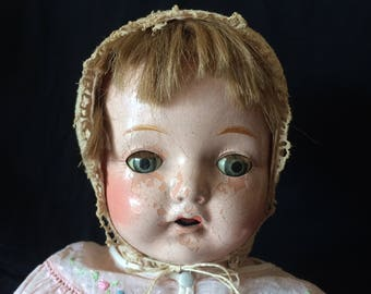 Vintage Doll, Composition Doll, Horsman Doll,  Mama Doll - 1920