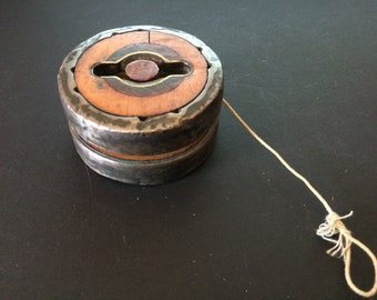 Vintage Yo-Yo, Wood and Metal Yo-Yo, Yo-Yo Made of Old Mill Relic, Handmade in England - 1970