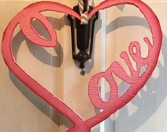Love Heart Door Hanger