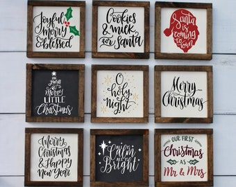 Santa Stop Here Vintage Retro Style Wooden Road Street Sign Christmas Present