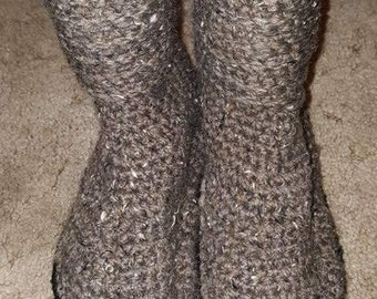 Crochet Sweater Boots with Flip Flop Soles, Crochet Sweater Boots