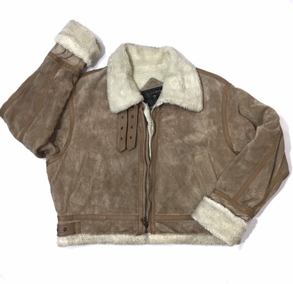 Gleeman Sheepskin Leather Jacket Military Jacket