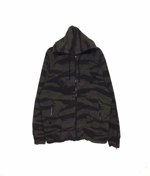 Freshjive camouflage hoodies zipper