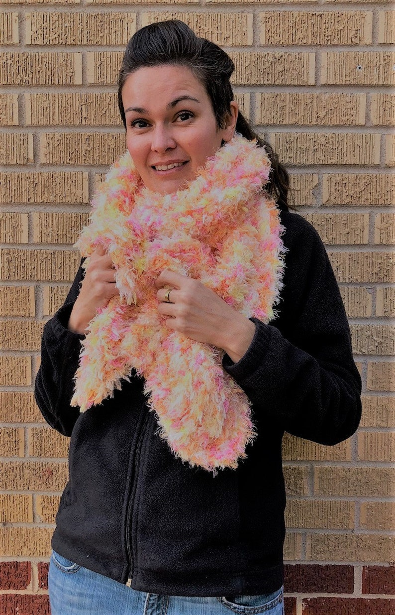 e2ab2ef1f Super Soft Pink Marshmallow Dream Scarf Hand Knitted Cozy | Etsy