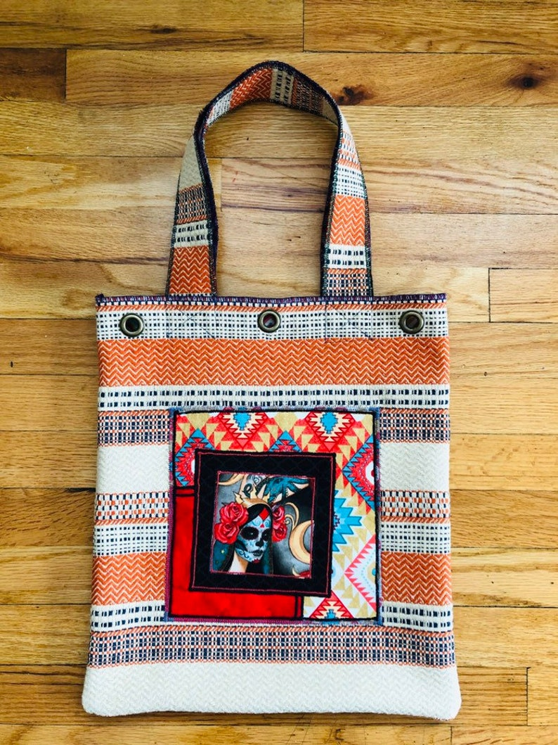 Day of the Dead Original Canvas Tote Day of the Dead Tote