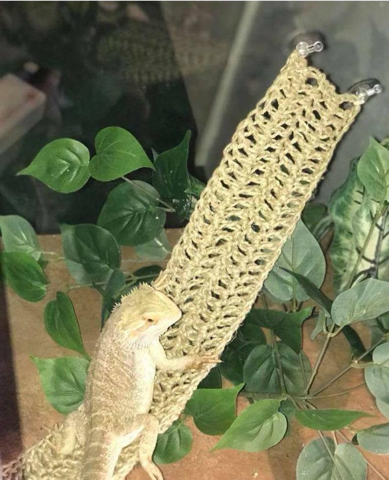 SWING STYLE: Reptile Hammock/ pet hammock/ bearded dragon hammock/reptile  swing/ natural terrarium decor