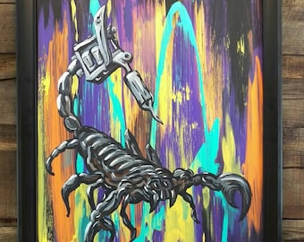 Scorpion à l'encre de tatouage Machine peinture