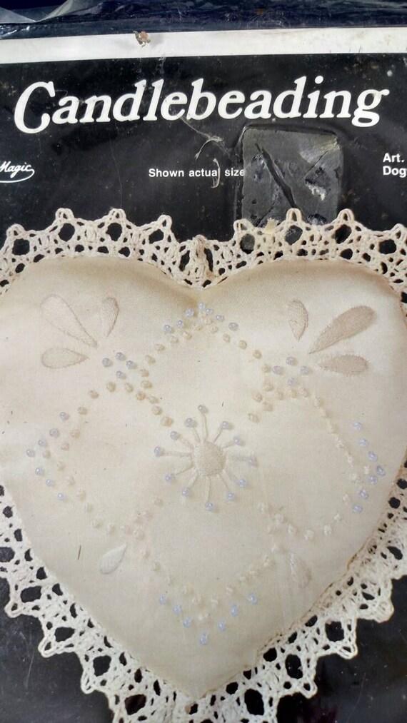 Candlebeading Kit By Needle Magic Dogwood Pattern On Heart Etsy