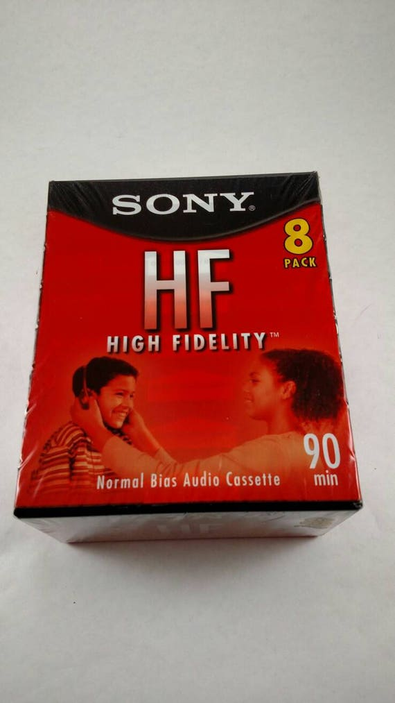 Sony HF 90 min High Fidelity Normal Bias Blank Cassette Tapes Lot of 2 New
