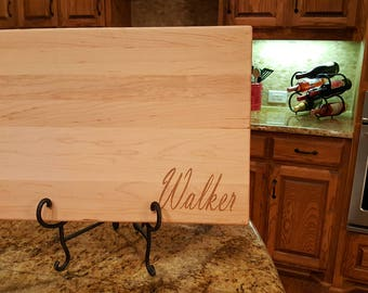 Personalized cutting board, personalized wedding gift, laser engraved Mother's Day gift