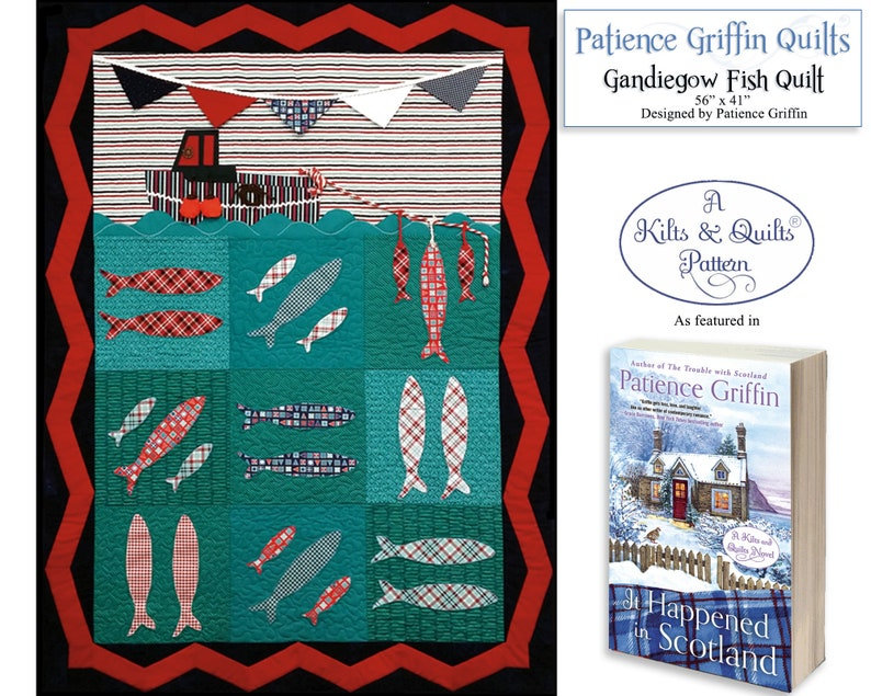 Gandiegow Fish QuiltPrinted Pattern Kilts & Quilts® Book 6 image 0