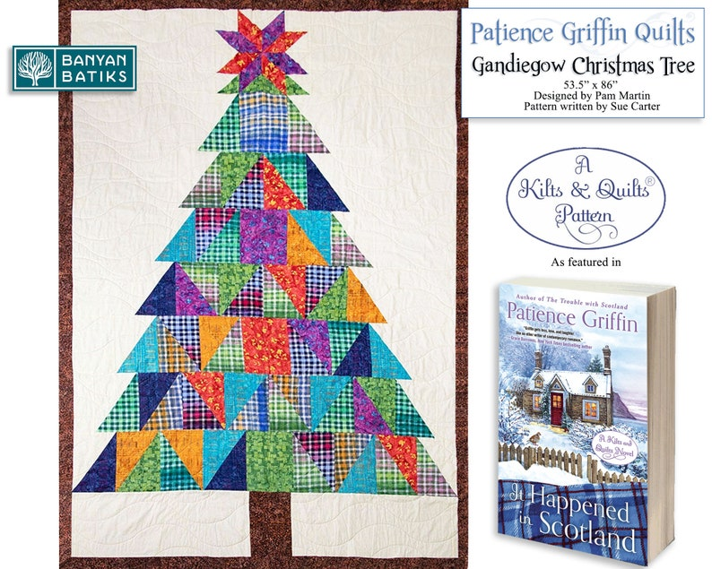 Gandiegow Christmas Tree Quilt-Printed Pattern featured in image 0