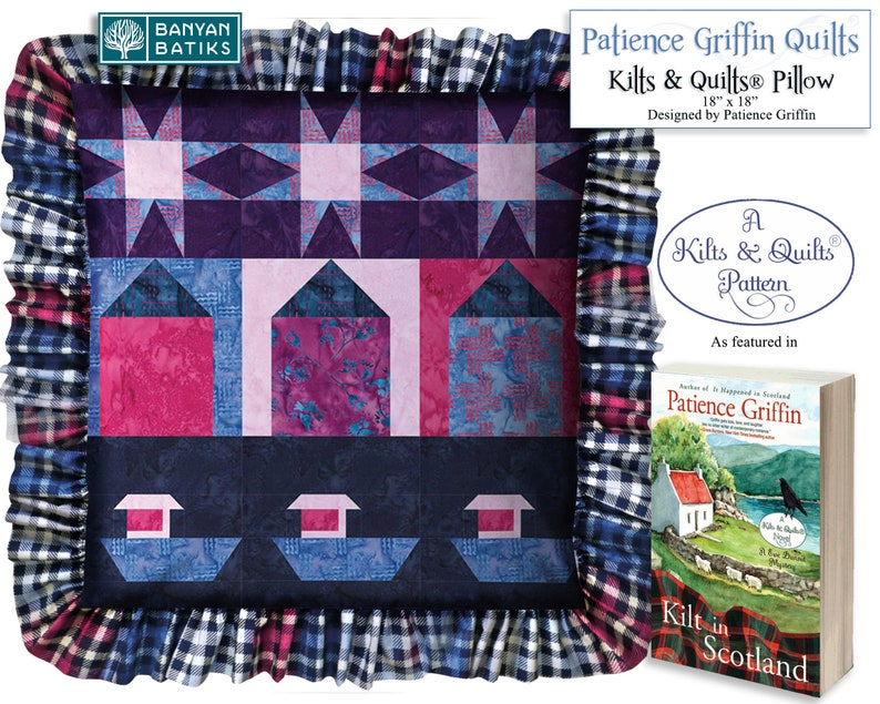 Kilts & Quilts® PillowPrinted pattern featured in the Kilts image 0