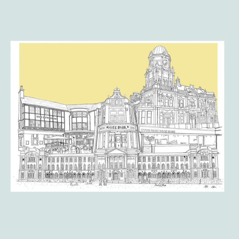 Hyde Park & Headingley Leeds Beckett Campus Collage Limited Edition Prints