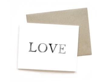 LOVE    Greeting Card   Love Card   Anniversary Card   Shower Card   Baby Card   Wedding Card   Engagement Card   Valentine Card