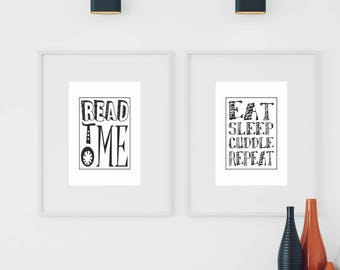 Read to Me Nursery Printable