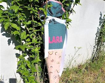 70cm Fabric School Bag Rainbow Free Pattern Choice Schooled Sugar Bag Young Girl School Child Princess Fox Rainbow Horse Owl