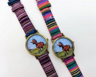 Wristwatch Children's Watch Ladies' Watch Watch Horse Horse Watch Gift Idea Horse Love Horse Lovers Quartz Watch