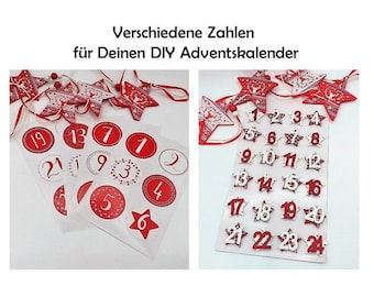 Numbers for Advent Calendar Wood Numbers Wood Brackets Christmas Advent Calendar Numbers Christmas Calendar Make Your Own Christmas Calendar