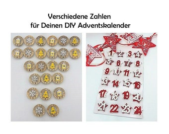 Numbers for Advent Calendar Lapel Pins Buttons Christmas Advent Calendar Numbers Christmas Calendar Pins Make Your Own Christmas Calendar
