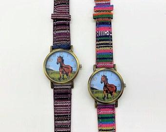 Horse Watch Wristwatch Children's Watch Ladies' Watch Watch Horse Gift Idea Horse Love Horse Lovers Quartz Watch