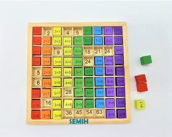 Montessori wooden toys school enrollment pegging game math arithmetic numbers wood colors school educational toys school child school bag