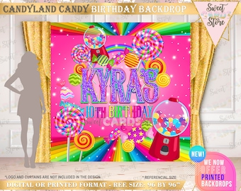 Candyland Chocolate Factory Christmas Party.Candyland Backdrop Etsy