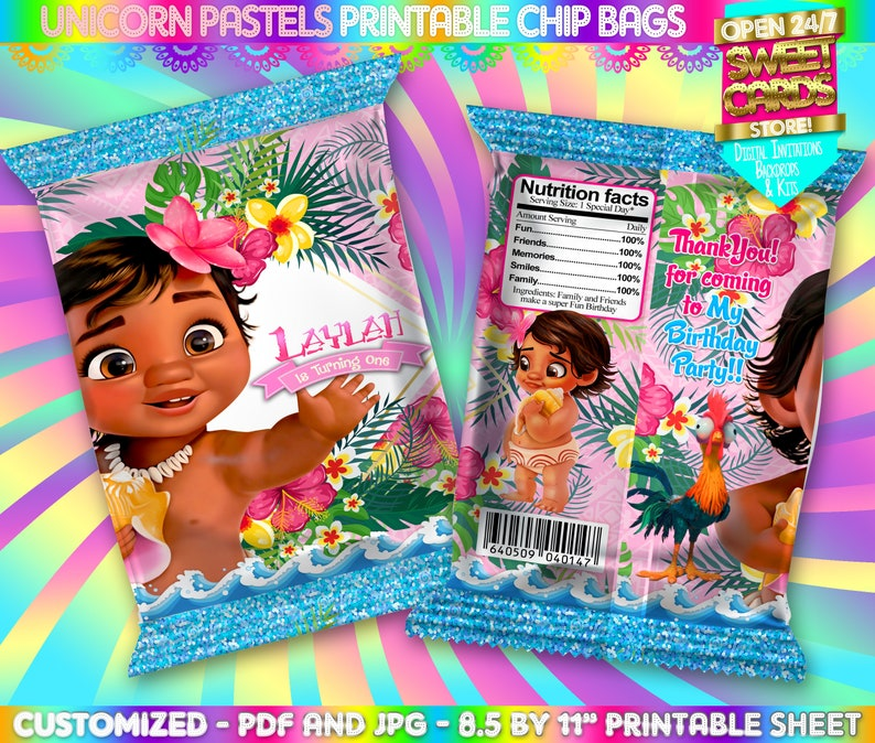 graphic relating to Printable Chip Bags identify Little one Moana Printable Chip Bag, Youngster Moana chip luggage, Moana Chip Baggage, moana deal with bag, moana printable wrapper, moana labels, moana bash