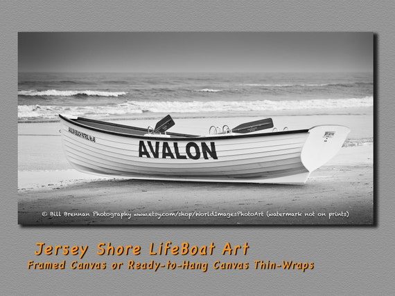 Avalon Nj Lifeboat B W Photo Art Print Photography Design Etsy