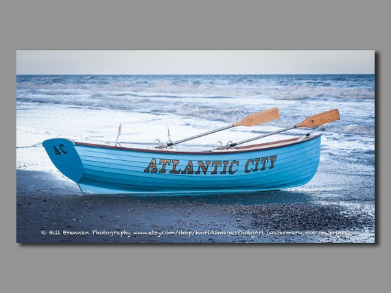 Atlantic City Nj Lifeboat Framed Canvas Art Print Photography Etsy