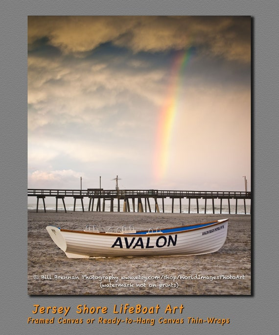 Avalon Nj Lifeboat Photo Art Print Photography Design Decor Etsy