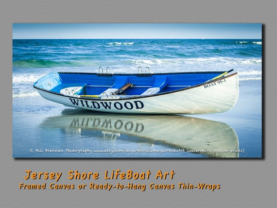 Wildwood Nj Lifeboat Framed Canvas Art Print Photography Decor Etsy