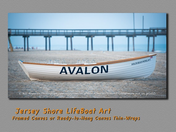 Avalon Nj Lifeboat Framed Canvas Art Print Photography Design Etsy
