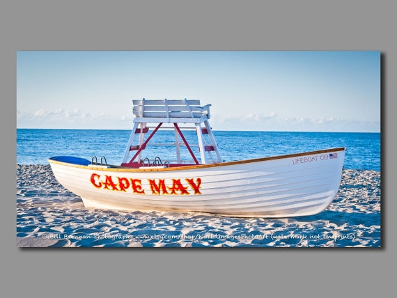 Cape May Nj Lifeboat Framed Canvas Art Print Photography Etsy