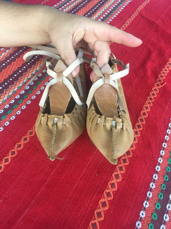 Vintage Leather Shoes, Pair of Leather Shoes, Col… - image 1